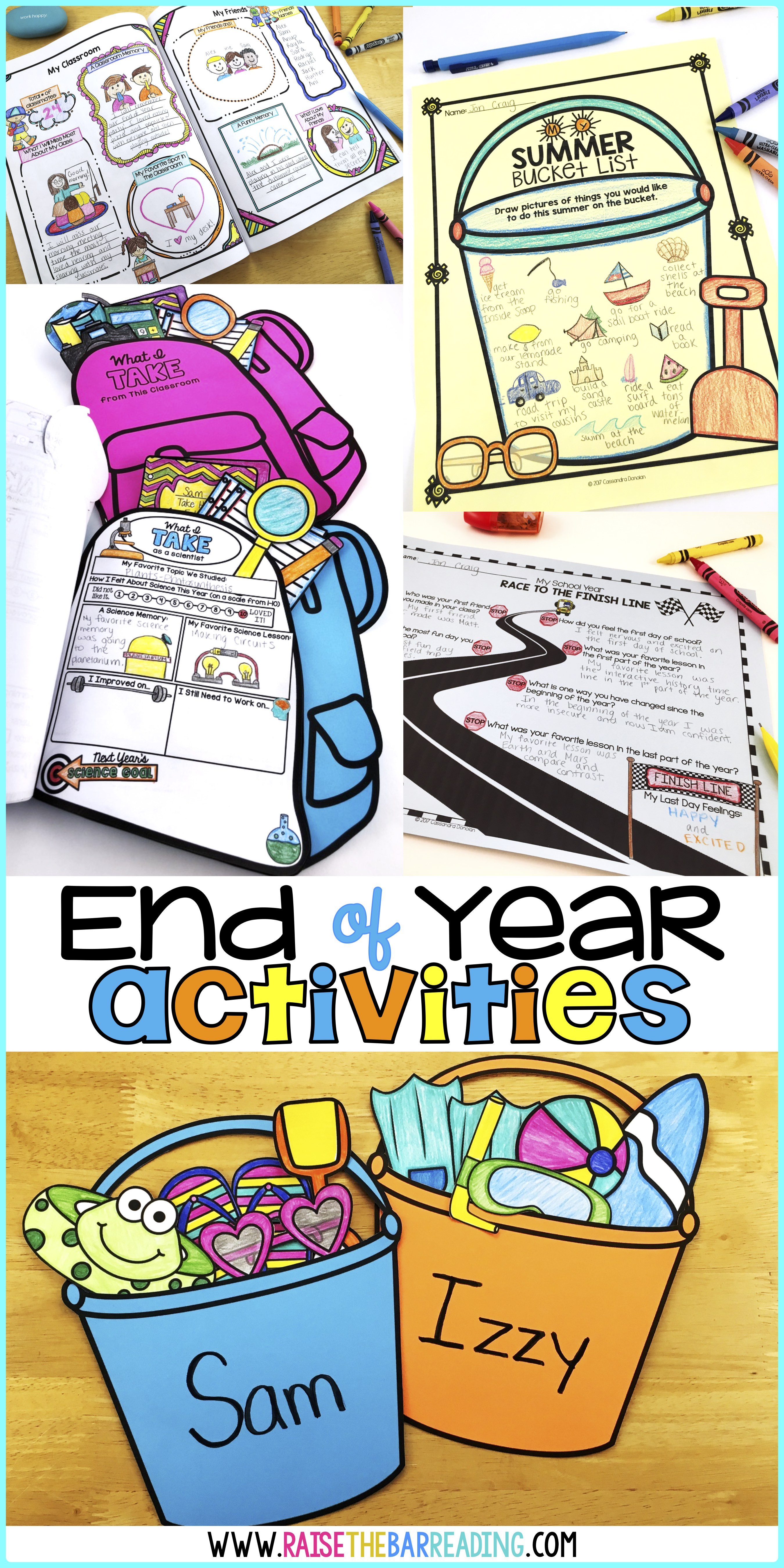 Low Prep End Of Year Activities For Elementary Students Raise The