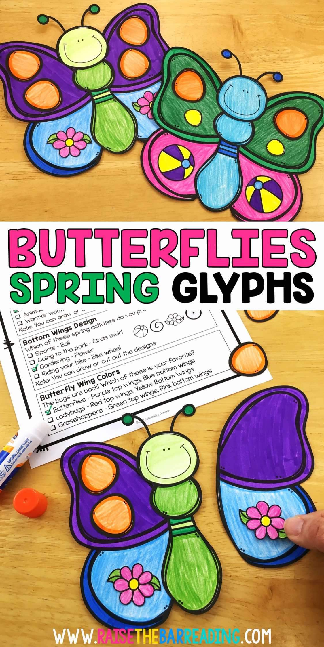 spring glyph activity for elementary students
