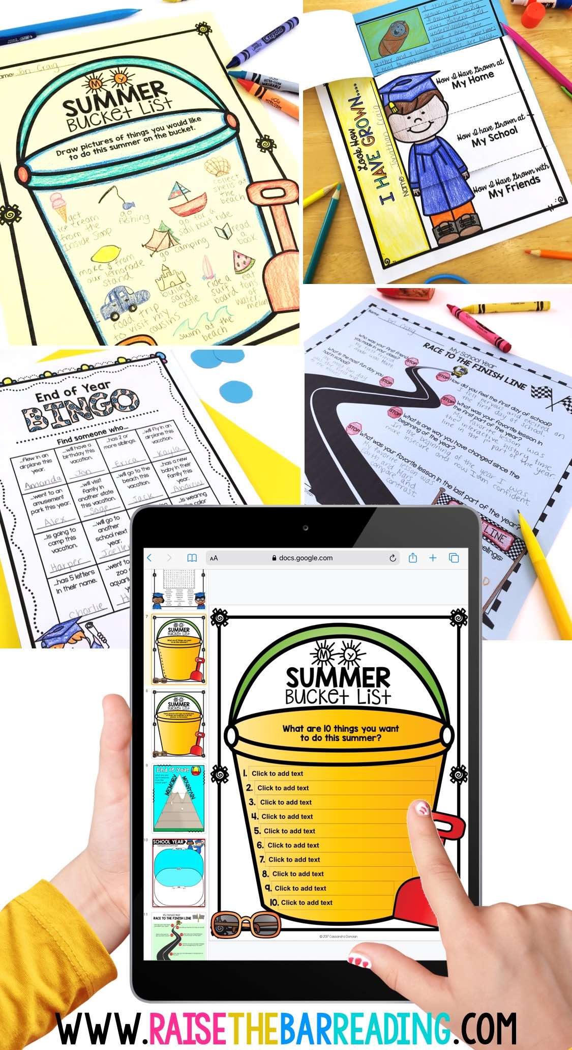 digital end of year activities for elementary students