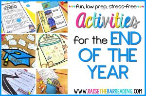 Printable and Digital End of Year Activities