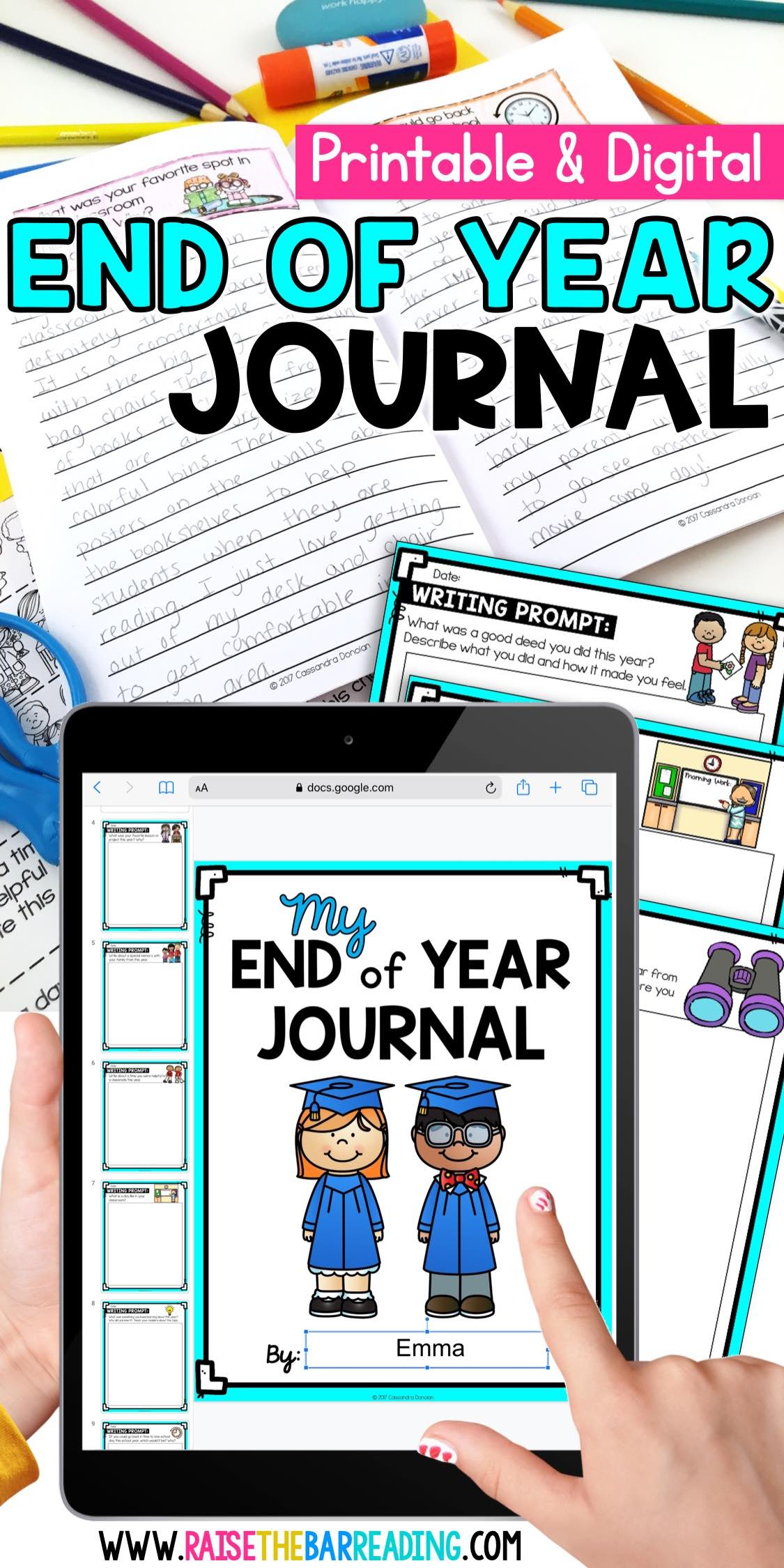 end of year writing prompts for elementary students