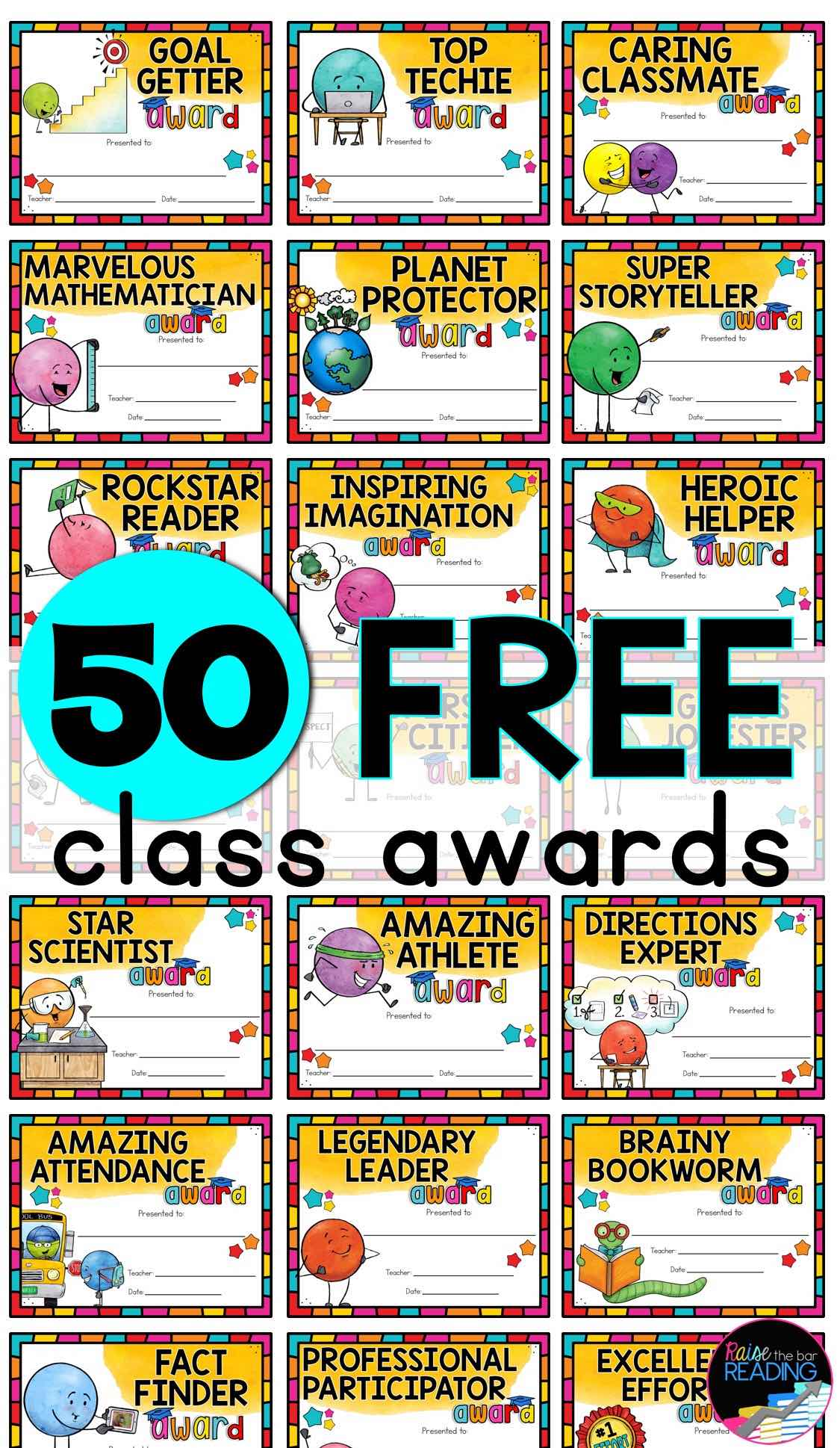 free end of year class awards